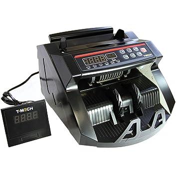 T-Mech Máquina Electrónica Cuenta Billetes Detector Billetes Falsos: Amazon.es: Oficina y papelería