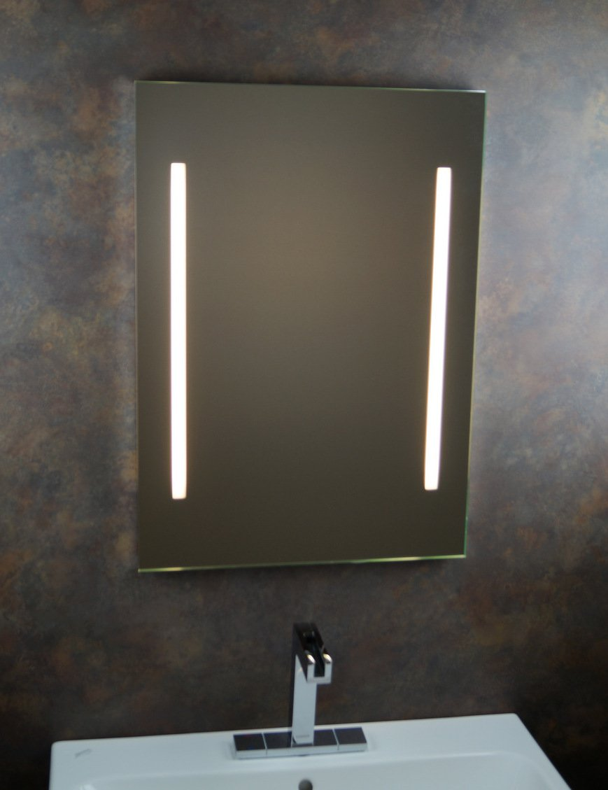 """Badspiegel   Badezimmerspiegel   Leuchtspiegel   Lichtspiegel   Spiegel   50 x 70cm   inkl. Seitenschalten   """"James"""""""