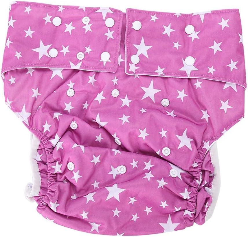 Couches lavables Soins des couches en tissu adulte Couches r/éutilisables Couches en tissu pour adultes r/églables Soins de sant/é Femmes Couleur : 01#