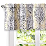 DriftAway Adrianne Damask/Floral Pattern Window Curtain Valance (52''x18'', Yellow/Gray)