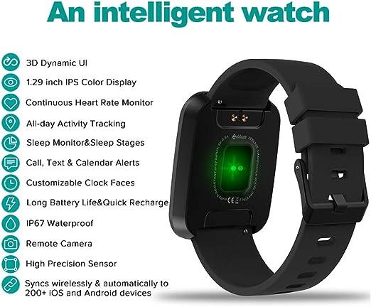 Amazon.com: Zeblaze Crystal 2 Smartwatch IP67 Waterproof ...