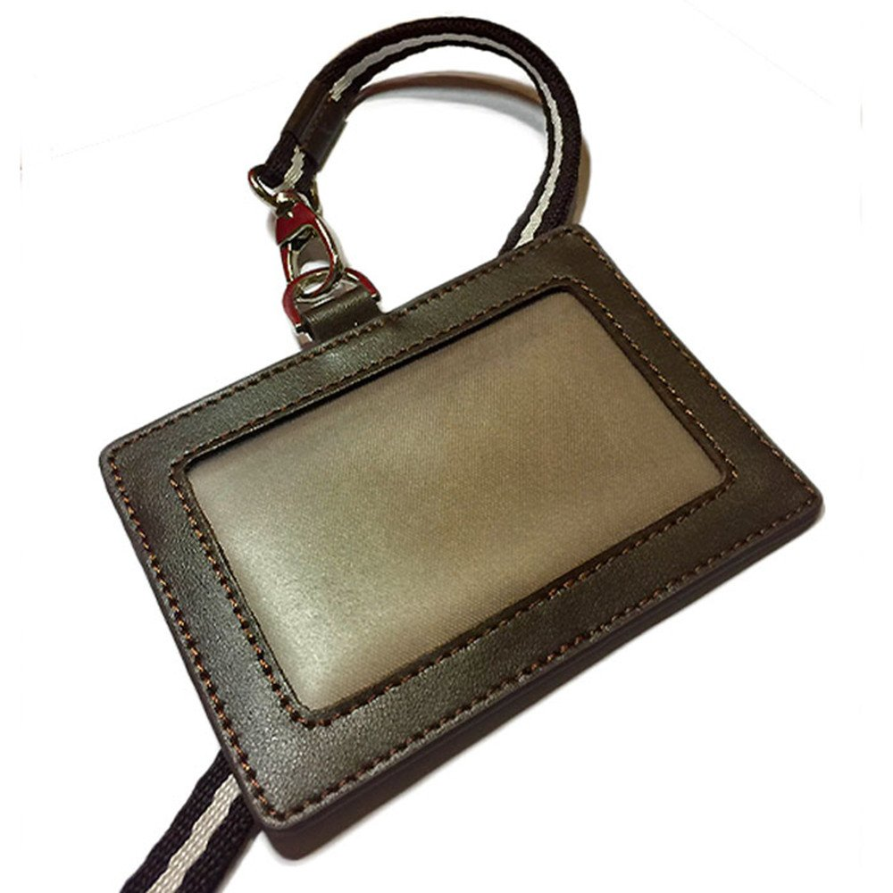 Could Be Custom Made ID Holder Pass Case Genuine Leather Pass Case (10.5x7.5X0.3CM) AD-65