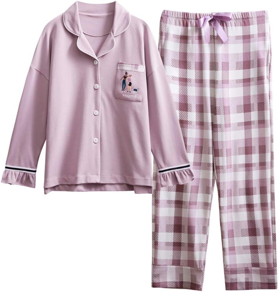 DUXIAODU Pijama de algodón para Mujer | Suave y cómodo | Elegante y Simple,Albornoz Suelto de algodón Cardigan A-9 M: Amazon.es: Hogar