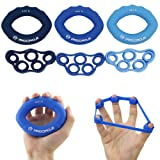 PROCIRCLE Hand Grip Strengthener & Finger Stretcher - Strength Trainer for Forearm Exercise, Guitar Finger Strengtheners and Rock Climbing