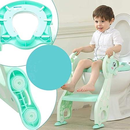 Wanlianer Asiento de Entrenador de Inodoro Escalera de Inodoro Auxiliar Suministros de Asiento de Inodoro para niños Infant bebé Escalera de Tijera Inodoro Plegable (Color : C): Amazon.es: Hogar