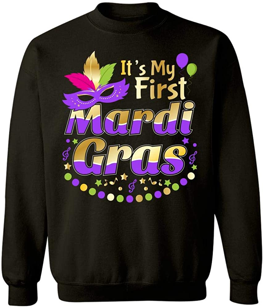 Merch Chimp New Orleans Its My First Mardi Gras Parade Design Party Souvenir Gift Sweatshirt