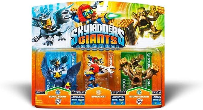 Skylanders Giants - Triple Pack Figuras C: Sonic Boom, Sprocket Y Stump Smash: Amazon.es: Videojuegos