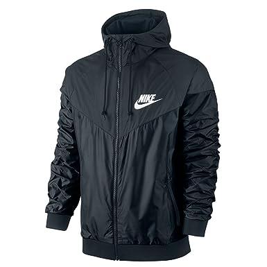 Nike Windrunner Mens Noir De Veste / Blanc 544119-010