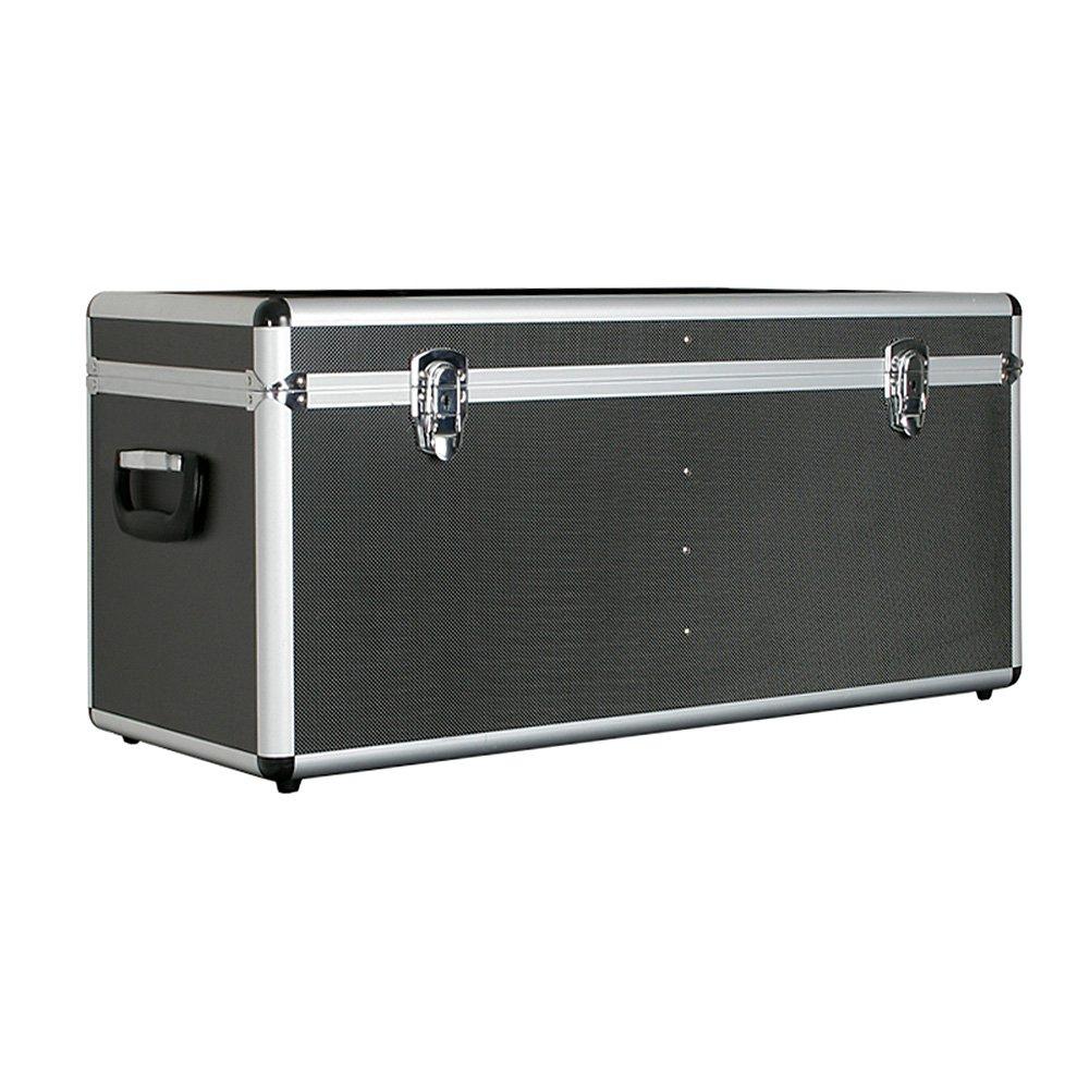 Transportbox / Werkzeugbox m. Alurahmen, Inhalt 65 Liter, LxBxH 680 x 310 x 320 mm, abschließbar, Farbe anthrazit BRB