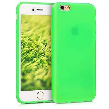 kwmobile Funda compatible con Apple iPhone 6 / 6S - Carcasa de {TPU silicona} - Protector {trasero} en {verde neón}