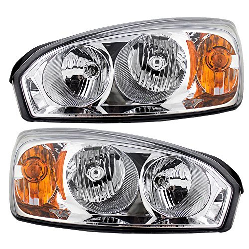 (Driver and Passenger Headlights Headlamps Replacement for Chevrolet 15851373 15851372)
