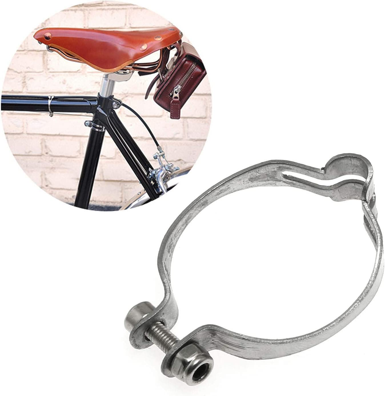 Maxmoral 4 Sets of 28.6mm Metal Ring to Frame MTB Bike Cable Guide Brake Cable Shift Cable Derailleur Cable Base Guide Clip Fitting Line Tube Seat Clamp