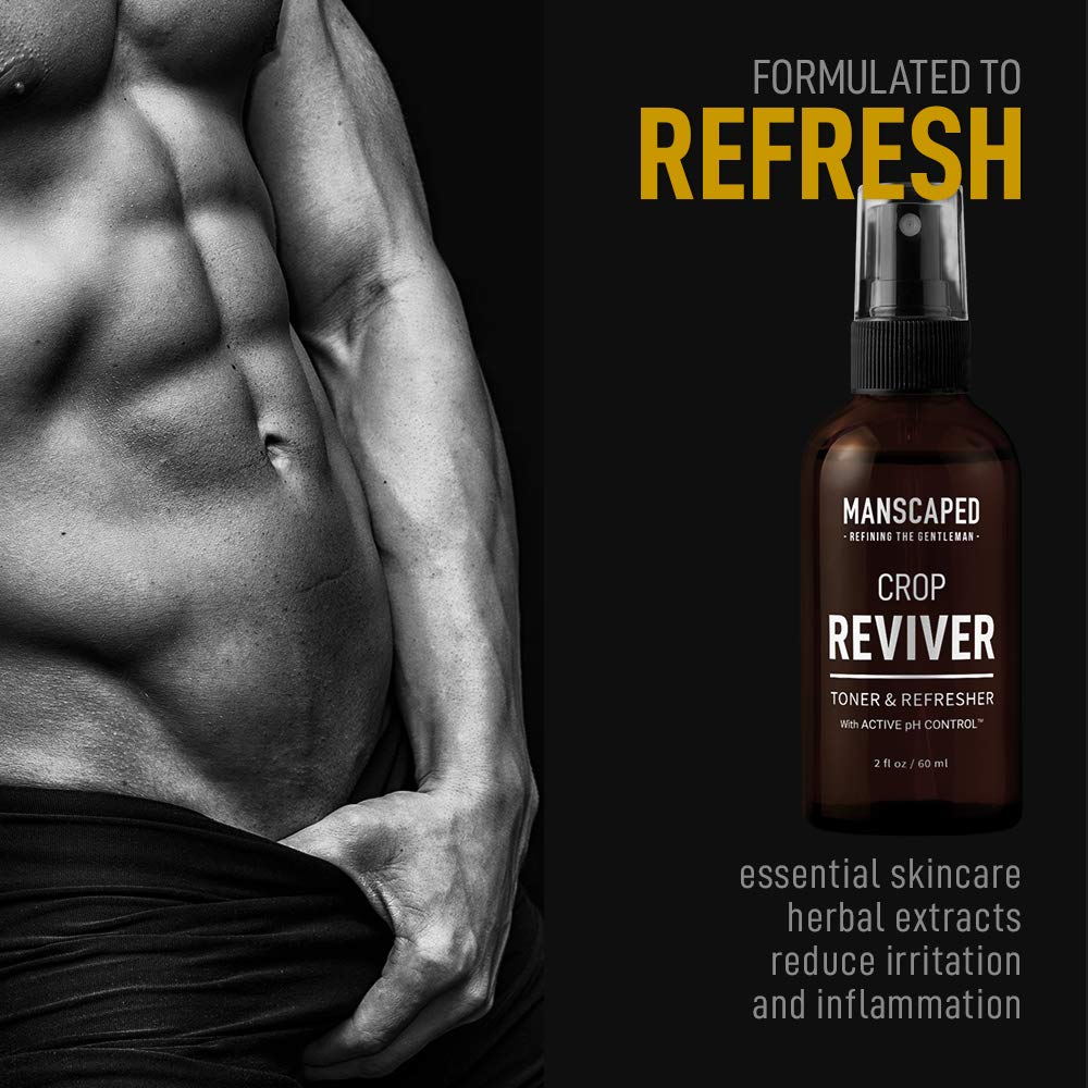 Manscaped Men's Body Toner Spray The Crop Reviver, Cooling Groin Spritz  with Aloe Vera, Groin