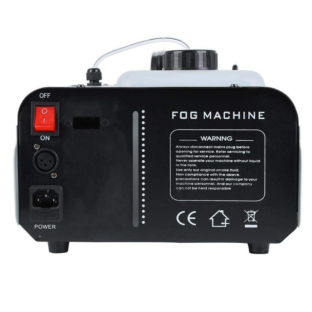 Tengchang 1500 Watt Smoke Fog Machine 9 LED Lights Remote Control Halloween DJ Party Stage Fogger