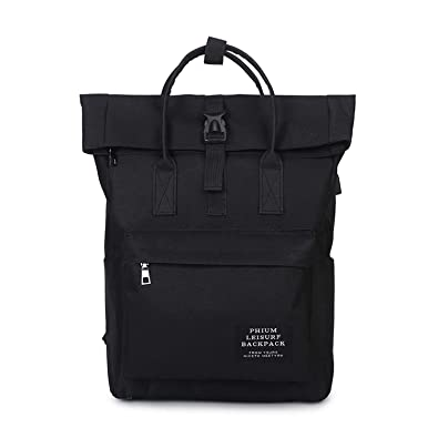 Amazon.com: Women External USB Charge Backpack Canvas Backpack Male Mochila Escolar Girls Laptop Backpack School Bags Backpack for teens,black: Shoes