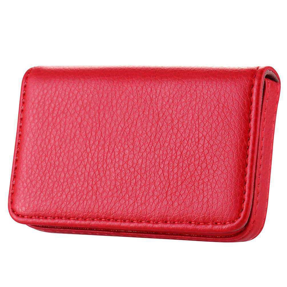 Wastar® Stylish Business Card Case Holder Premium Pu Leather Name Card Holder Case with Delicate Storage Bag (Ideal for Gift) - Pale Blue