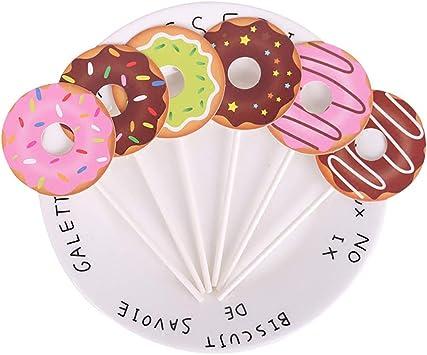 Amazon.com: 24 adornos para cupcakes de donut dulce para ...