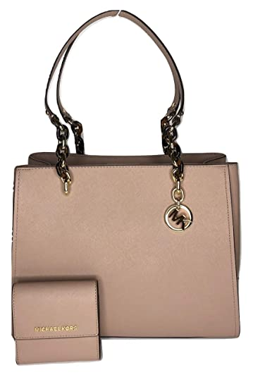 91025e7aee9e Amazon.com  MICHAEL Michael Kors Sofia Large Shoulder Tote bundled with Michael  Kors SM Card Case Carryall Wallet (Fawn)  Shoes