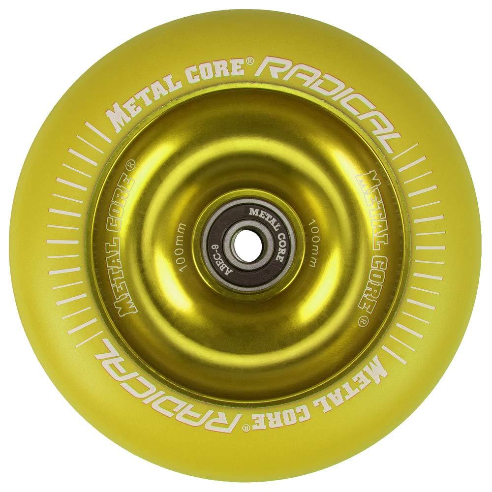 Metal Core Rueda Radical Monocromática para Scooter Freestyle, Diámetro 100 mm