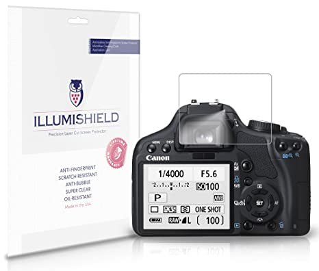 iLLumiShield Clear Screen Protector For Canon EOS Rebel XSI [3-Pack]