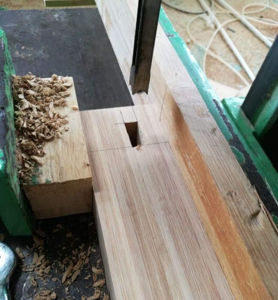 Juego de brocas de agujero cuadrado juego de 4 cinceles para carpinter/ía 1//4-1//2-5//16-3//8 pulgadas