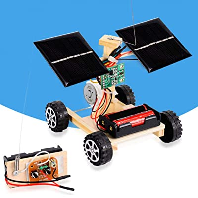 Kekailu Assembly Car Toy,DIY Solar Remote Control Racing Car Model Science Experiment Kids Assembly Toy: Home & Kitchen