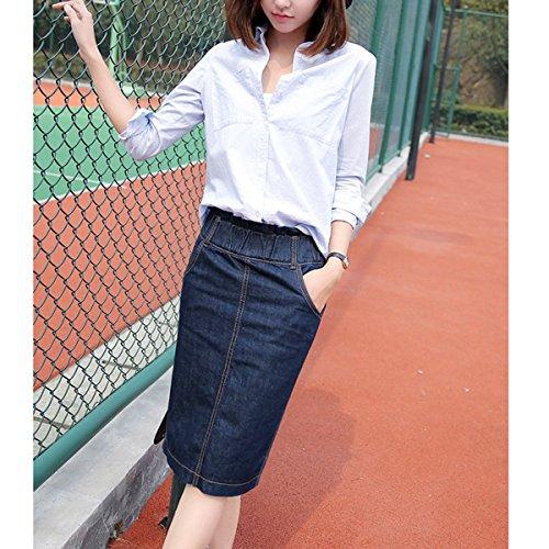 7715e845a0 Outlet Moda Primavera Denim Lápiz Falda Para Mujeres Cintura Elástica Falda  Delgada Verano Más Tamaño Faldas