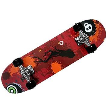 Skateboard - diseño - ABEC 7 Atlantic Rift - amortiguador de PU + PU de los rodamientos de ruedas de selección de colour naranja: Amazon.es: Deportes y aire ...