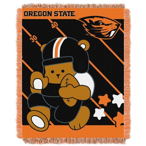 NCAA Oregon State Beavers Fullback Woven Jacquard Baby Throw Blanket, 36x46-Inch by Northwest ()