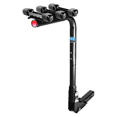 Pro Series 63123 Eclipse Black 3-Bike Hitch Mounted Bike Carrier