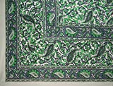 Jaipur Vine Paisley Tapestry Cotton Bedspread 106'' x 70'' Twin Green