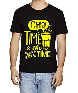 8f7bd0dab Caseria Men's Cotton Graphic Printed Half Sleeve T-Shirt - Chai Time Best  Time