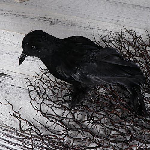 Amosfun Cuervo estimulado Decoración de Halloween Cuervo Realista ...