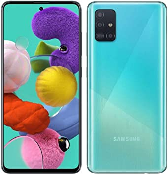 Samsung Galaxy A51 (SM-A515F/DS) Dual SIM 128GB,4GB RAM GSM Factory Unlocked (Blue)