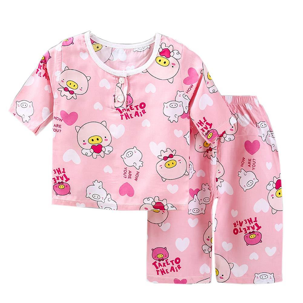 Habigua Little Boys Girls Soft Animals Pajama Snug Fit Pjs White