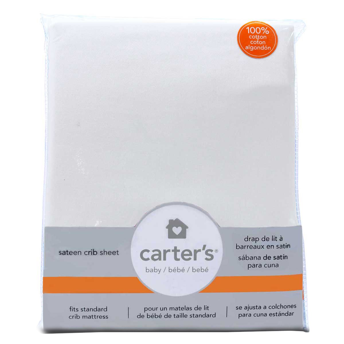 Amazon.com : Carters Sateen Fitted Crib Sheet, Blossom/Lighter Pink : Baby