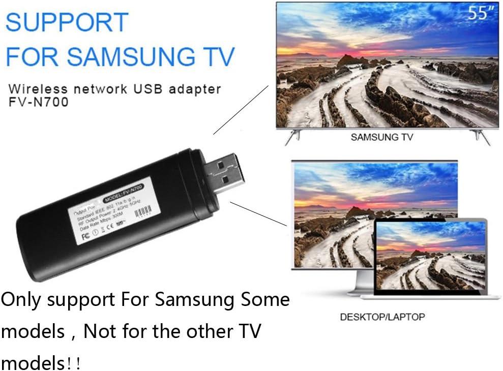 Fastering 1 Adaptador inalámbrico WiFi LAN USB para Samsung Smart TV 802.11 A/B/G/N, 300 Mbps, 2,4 – 5 GHz: Amazon.es: Informática