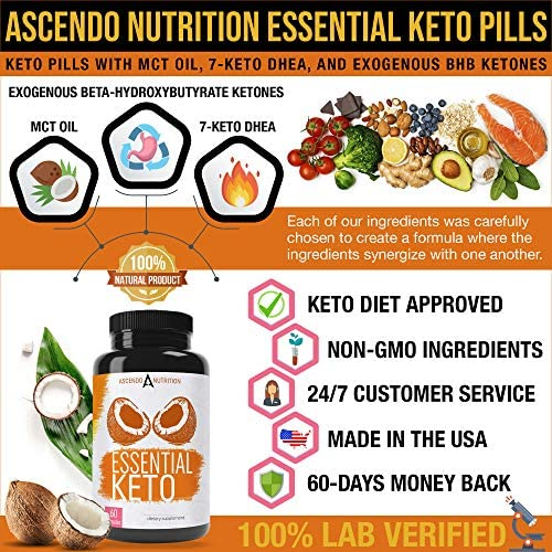 Keto Pills - Ultra Fast Keto Boost Supplement and Ketogenic Accelerator with Coconut MCT Oil, BHB Exogenous Ketones, and 7-Keto DHEA - Best Keto Diet Pill for Women and Men - 60 Capsules 3