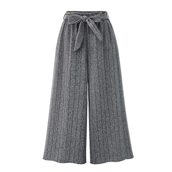 Luckycat Mujer Pantalones de harén Nueve Pantalones Anchos ...