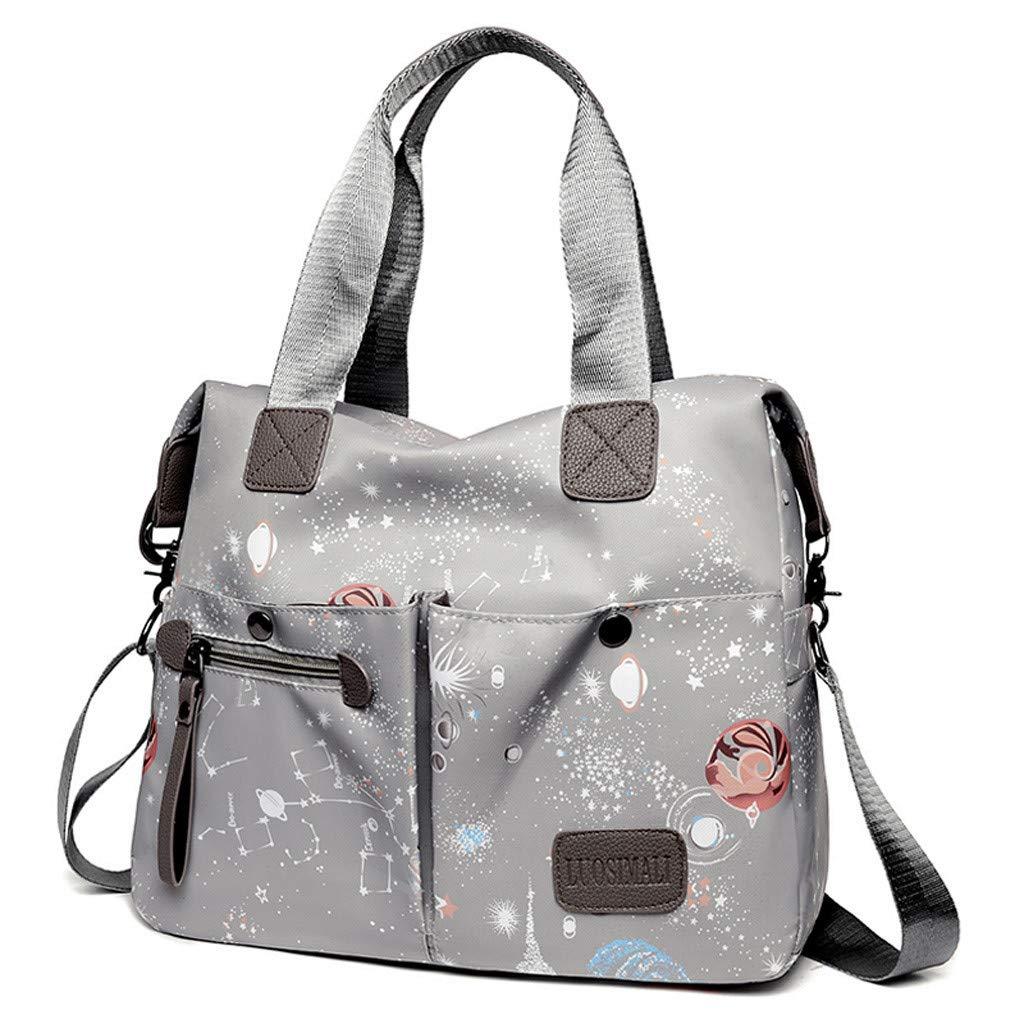 Darringls Borse a Mano Borse Donna Elegante Handbag Portafoglio Donna Casual Borse Tote Borse Firmate Borsa a Tracolla Oxford Cloth Starry Pattern Travel Shoulder Bag Hand Bag