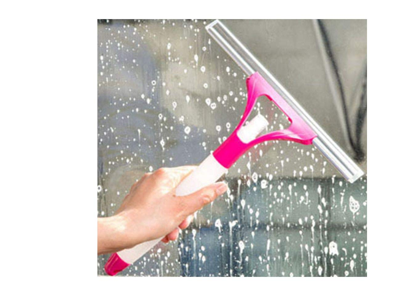 DADA Window Squeegees with Spray Bottle, Glass Cleaning Wiper Rubber Blade Shower Screen Washer (Random Color) Gadgets