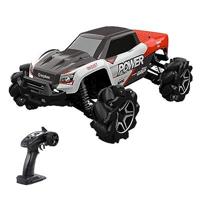GoolRC 1/12 RC Car 4 Motors 4WD Stunt Drift Climbing Car High Speed Mecanum Wheel RC Off-Road Car Birthday Gift for Kid Boy: Toys & Games