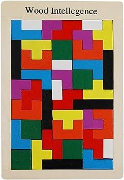 Tetris Del Niño Del Juguete De Niños Montessori Rompecabezas De Madera: Amazon.es: Juguetes y juegos