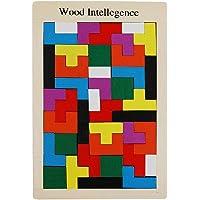 HOMYL Wooden Tetris Game Montessori Kids Children Toddlers Puzzle Educatiional Toys