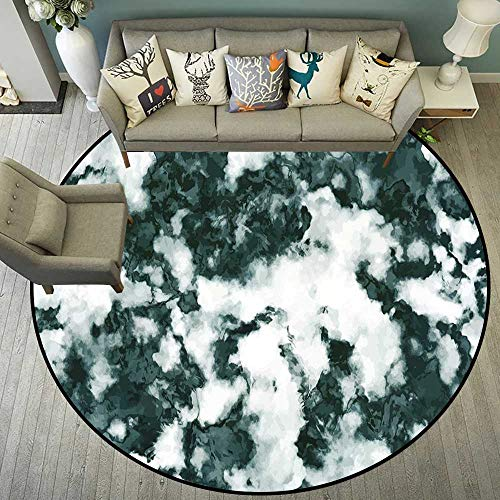 Round Floor mat for high Chair Round Indoor Floor mat Entrance Circle Floor mat for Office Chair Wood Floor Circle Floor mat Office Round mat for Living Room Pattern 5'10