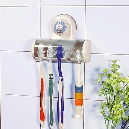 wall-suction Creative vaso para cepillo de dientes para colgar 5 cepillos de dientes