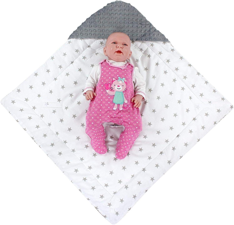 TupTam Baby Winter Einschlagdecke f/ür Babyschale Wattiert