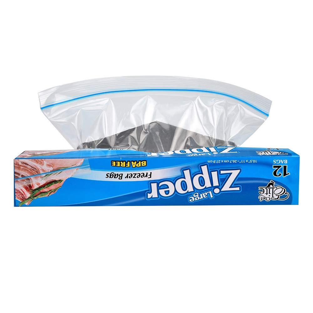 Lovewe Sealed Thickened Food Bag,Refrigerator Self Sealing Fresh Keeping Bag 12PCS/ Box