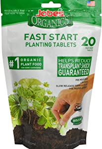 Jobe's 7920 Fast Start Fertilizer Tablet, 20, Natural