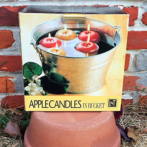 linens-n-things-apple-candles-in-galvanized-bucket